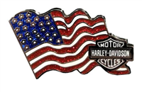 Harley-Davidson American Flag w/Bar & Shield Pin - Shop.LVHD.com