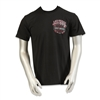 men's black shortsleeved Harley-Davidson Las Vegas tshirt with distressed skull and American flag overlay