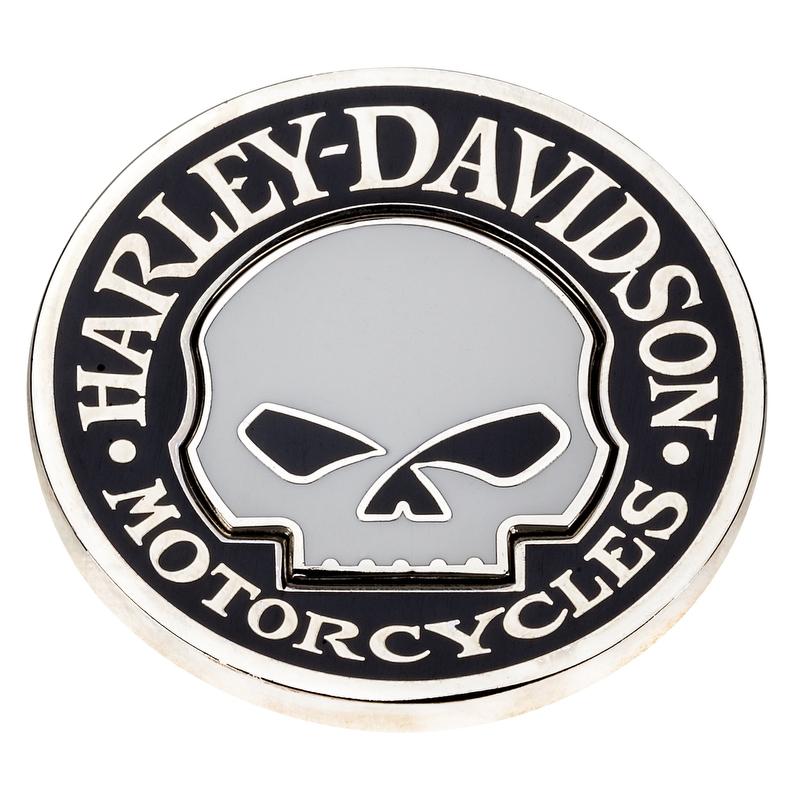 Silver Harley Davidson Challenge Coin w/ Removable Skull