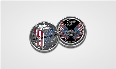 H-D RIDE FREE EAGLE COIN