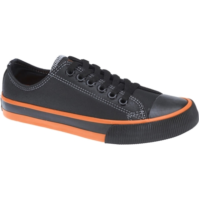 HARLEY-DAVIDSON LADIES ZIA SHOE - BLACK/ORG