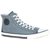 H-D FILKENS HI TOP LEATHER SHOE - GRAY