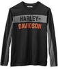 Men's H-D Long-Sleeve Color Block Shirt