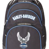 H-D BLUE BLACK STEEL CABLE BACK PACK