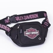 H-D PINK LOGO BELT BAG