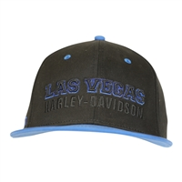 BALL CAP CUSTOM BLUE & BLACK