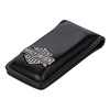 Bar & Shield  Leather Money Clip