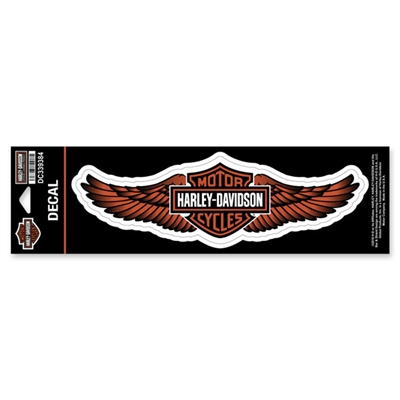 H-D LARGE STRAIGHT WING DECAL