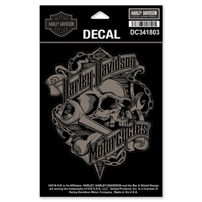 H-D MEDIUM GRIM DECAL