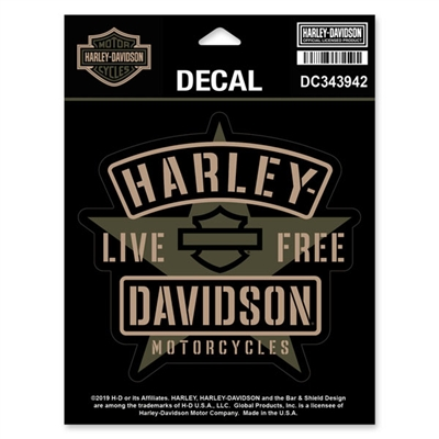 Harley-Davidson Small Matte Resolute Decal