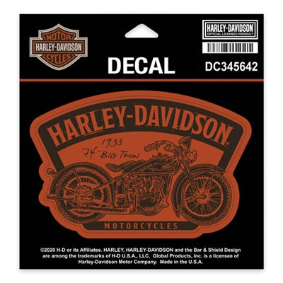 Harley-Davidson Small Timeline Decal