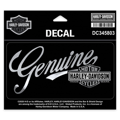 H-D MEDIUM PREMIUM GENUINE DECAL