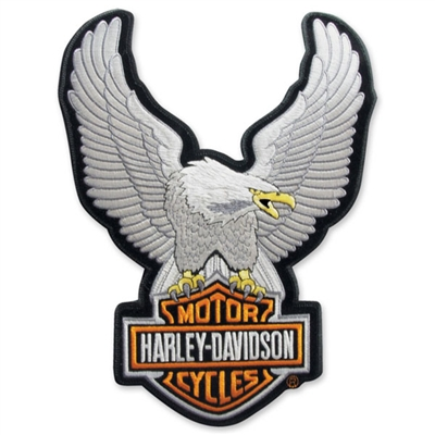 H-D LARGE UPWING EAGLE EMBLEM - SILVER