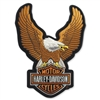 H-D SMALL UPWING EAGLE EMBLEM - BROWN