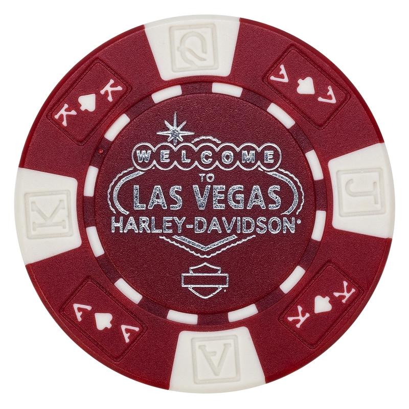 Harley-Davidson Poker Chip con traficantes logo #4