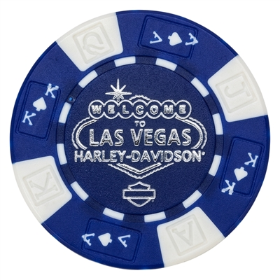 BLUE & WHITE POKER CHIP