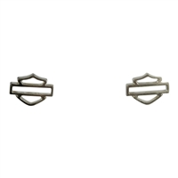 Harley-Davidson .925 Silver B&S Outline Post Earring