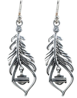 Harley-Davidson Large Boho Feather Earring