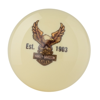 Las Vegas Harley-Davidson Bar & Shield Eagle Cue Ball