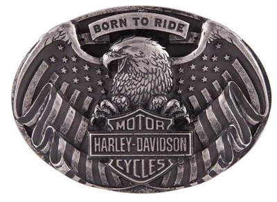 HD MEN'S BORN TO FLY BUCKLE