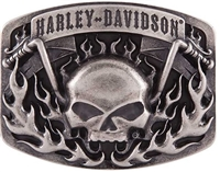 Harley-Davidson Men's Skull Bars & Flame