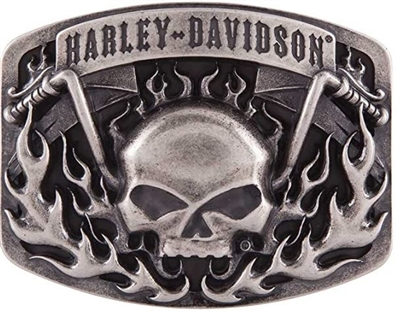 H-D MEN'S SKULL BARS & FLAME
