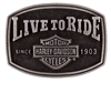 HD MEN'S LIVE TO RIDE BUCKLE