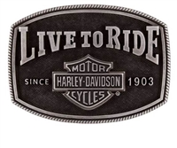 Harley-Davidson Men's Live To Ride Buckle
