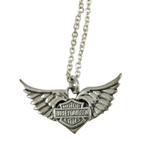 NECKLACE WINGED BAR & SHIELD