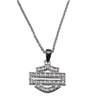 BAR & SHIELD BLING NECKLACE