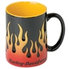 H-D MUG SCULPTED FLAME