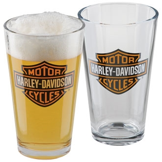 H-D BAR & SHIELD GLASS PINT SET