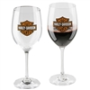 H-D BAR & SHIELD GLASS WINE SET