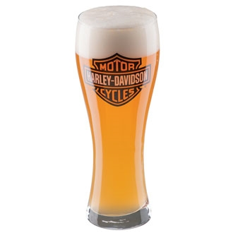 Harley-Davidson Bar & Shield Glass Pilsner