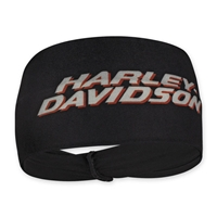 H-D BLACK POLY SPANDEX HEADBAND