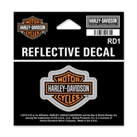 H-D X-SMALL REFLECTIVE B & S DECAL