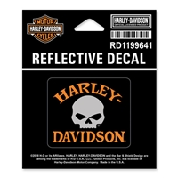 H-D X-SMALL REFLECTIVE SKULL DECAL
