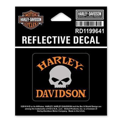 Harley-Davidson X-Small Reflective Skull Decal