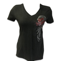 Ladies Side Shine - Gray T-shirt