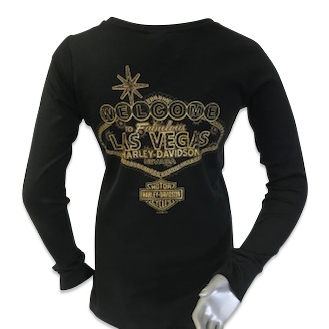 Ladies Montage T-Shirt With Gold Henderson Harley-Davidson