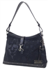 Skull Jacquard Bucket Purse - Black
