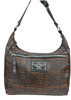 H-D WOMEN'S GREY SILKY HOBO PURSE