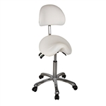 White Stool with Backrest  - USA-1025A