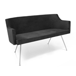 Birkin Sofa 2 black by Gamma & Bross Spa