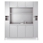 Backsystem 170 Shampoo Area Cabinet by Gamma & Bro