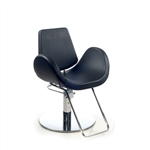Alipes Black Roto Base Styling Chair by Gamma & Bross Spa