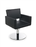 Ushape Black Styling Chair by Gamma & Bross Spa
