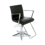 Aluotis Ecoblack Styling Chair With Parrot Base by Gamma & Bross Spa
