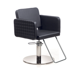 Aureole Anniversary Black Roto Base Styling Chair With  by Gamma & Bross Spa
