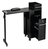 Pibbs 2009BL Folding Manicure Station - Black